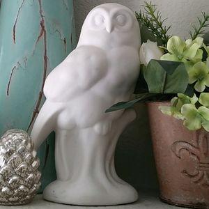 Elle decor brand white ceramic owl